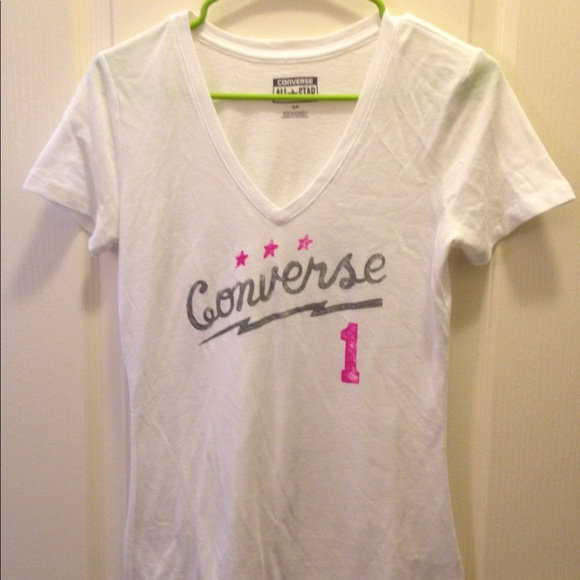 1029ee1631ac Converse Tops - NWOT White and Pink Converse Shirt!